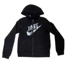 Nike W NSW HOODIE FZ FLC GX TXT FLR - S