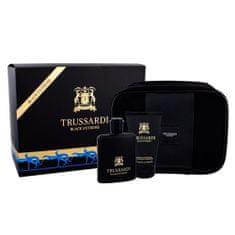 Trussardi ajándék szett, Fekete Extreme, EDT 100 ml, tusfürdő 100 ml, kozmetikai tasak