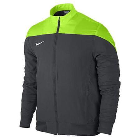 Nike YTH SQUAD14 SDLN WVN JKT, 10.   FABOTBALL / FOCCER   Fiúk   JACKET   ANTRACIT / ELEKTROMOS ZÖLD / FEHÉR   M