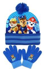 SETINO Chlapčenská čiapka a prstové rukavice Lapková patrola - Paw patrol - svetlo modrá