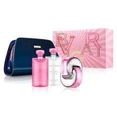 Bvlgari ajándék szett, Omnia Pink Sapphire, EDT 65 ml, tusfürdő 75 ml, testápoló 75 ml, kozmetikai tasak