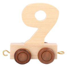 Small foot by Legler Drewniany wagon kolejowy - cyfry naturalne - liczba 9, Rozmiar: ok. 5x3x6 cm Wiek: 3+ Wpisz wybrany numer w komunikacie zamówienia