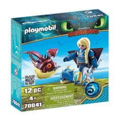 Playmobil Astrid w latającym płaszczu i Trnožrout , Jak wytresować smoka, 12 sztuk