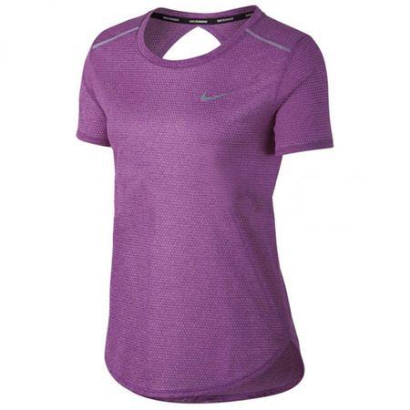 Nike W NK BRTHE TOP SS, 10 | URUCHOMIENIE | KOBIETY | TOP Z KRÓTKIM RĘKAWEM | BOLD BERRY / HTR M.
