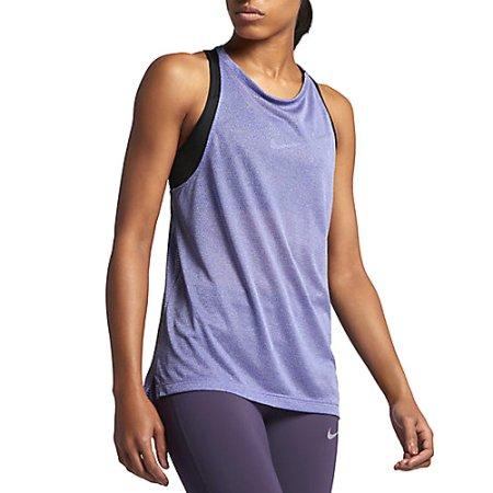 Nike W NK BRTHE TANK, 10   URUCHOMIENIE   KOBIETY   TANK TOP / SINGLET   DARK IRIS / HTR   XS