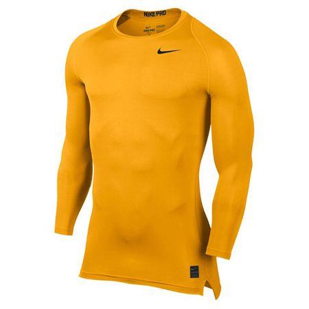 Nike M NP TOP COMP LS CRW, 10 | SZKOLENIE MĘŻCZYZN | MĘŻCZYZNA | TOP Z DŁUGIM RĘKAWEM | UNIVERSITY GOLD / UNIVERSITY GOL | XL