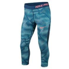 Nike G NP HPRCL CPRI AOP1, 10 | YOUNG Athletes | GIRLS | 3/4 LENGTH TIGHT | LIGHT AQUA / SPACE BLUE / SUNBLUSH | S