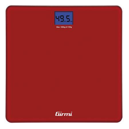 Girmi Balance PesaPersona Elettronica 100gr / 180kg ROSSA, Balance PesaPersona Elettronica 100gr / 180kg ROSSA