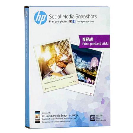 Posnetki HP Social Media, 25 listov, 10 x 13 cm, Posnetki HP Social Media, 25 listov, 10 x 13 cm