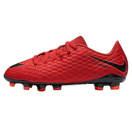 Nike JR HYPERVENOM PHELON III FG, 20. | FABOTBALL / FOCCER | GRD ISKOLA UNSX | LOW TOP | EGYETEM VÖRÖS / FEKETE-FÉNYKÉPES CR 6Y