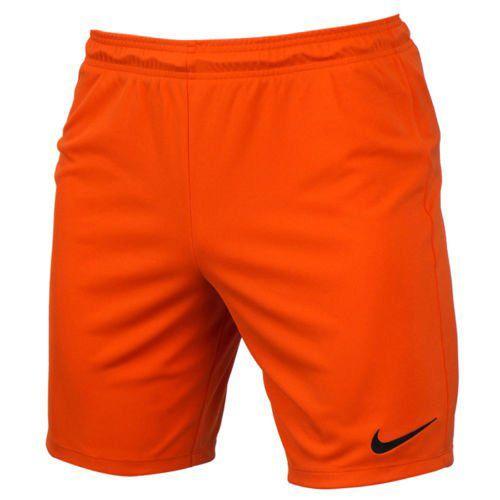 Nike PARK II KNIT SHORT NB, 10 | FOOTBALL / SOCCER | MENS | SHORT | SAFETY ORANGE / BLACK | 2XL