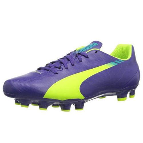 Puma evoSpeed 5-3 FG, prism violet-Fluro yellow-scuba blue | 8,5