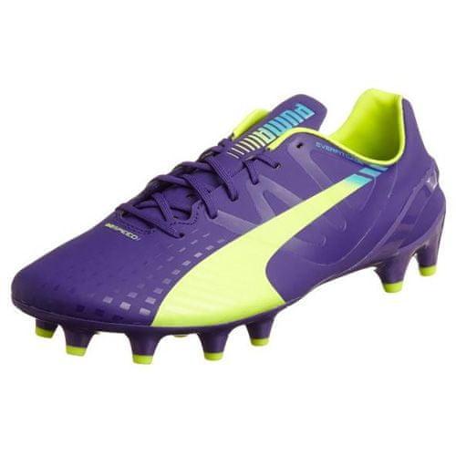 Puma evoSpeed 1-3 FG, prism violet-Fluro yellow-scuba blue | 10,5