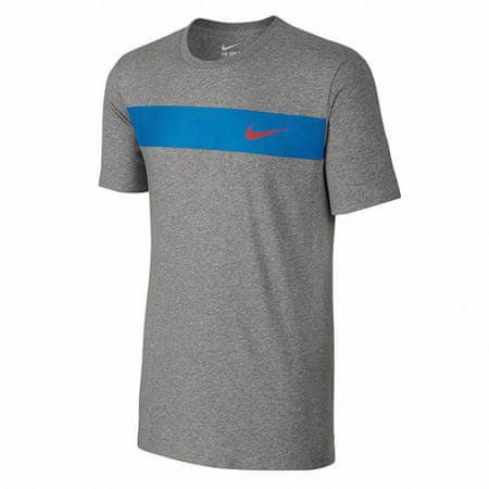 Nike T-SHIRT , 10   INNE SPORTY NSW   MĘŻCZYZNA   T-SHIRT Z KRÓTKIM RĘKAWEM   DK GREY HEATHER / LT PHOTO BLUE /   XL