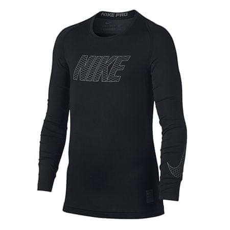 Nike B NP TOP LS COMP, 10 | MŁODZI ATLECI | CHŁOPCY | TOP Z DŁUGIM RĘKAWEM | CZARNY / BIAŁY | XS