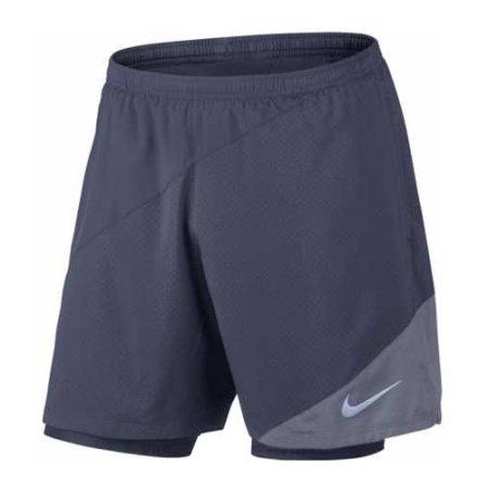 Nike M NK FLX 2IN1 7IN DISTANCE, 10   URUCHOMIENIE   MĘŻCZYZNA   KRÓTKI - 2 W 1   THUNDER BLUE / ARMORY BLUE   2XL