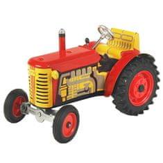 KOVAP Traktor Zetor, červený, červené kov. disky