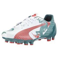 Puma evoSPEED 4.3 Graphic FG Jr, Football Individual Speed | white-sea pine-high risk red | 4