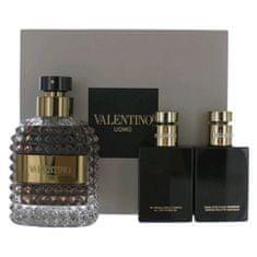 Valentino ajándék szett, Uomo, EDT 100 ml, tusfürdő 50 ml, borotválkozás utáni balzsam 50 ml
