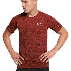 Nike M NK DF KNIT TOP SS, 10   RUNNING   MOŠKI   KRATEK SLEEVE TOP   PRIMERNO VINO / HIPERSKI ZLOČIN   XL