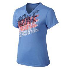 Nike LEG NIKE TRACER TEE YTH, 10 | YOUNG Athletes | GIRLS | SHORT SLEEVE T-SHIRT | CHALK BLUE | XL