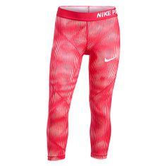 Nike G NP HPRCL CPRI AOP1, 10 | MŁODZI ATLECI | DZIEWCZĘTA | 3/4 DŁUGOŚĆ CIĘŻKA | SUNBLUSH / LT FUSION RED / WHITE | Z