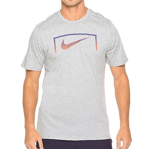 Nike SWOOSH GOAL TEE, 10 | FOOTBALL / SOCCER | MENS | SHORT SLEEVE T-SHIRT | DK GREY HEATHER / DK GREY Heath | M