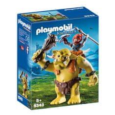 Playmobil Obrí trol s batohom na trpaslíkov Playmobil, Dračí rytieri, 14 dielikov