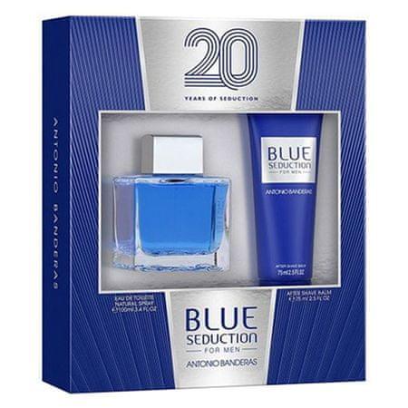 Antonio Banderas Blue Seduction 100ml EDT + 75ml ASB, Blue Seduction 100ml EDT + 75ml ASB