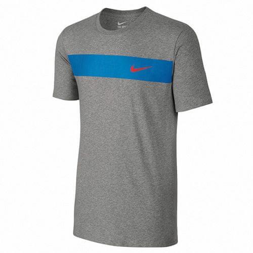 Nike T-SHIRT , 10 | NSW OTHER SPORTS | MENS | SHORT SLEEVE T-SHIRT | DK GREY HEATHER / LT PHOTO BLUE / | L
