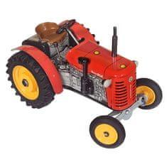 KOVAP Traktor Zetor 25A červený na klíček kov 15cm 1:25