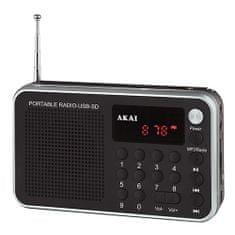 Akai DR002A-521 BLACK Cyfrowe radio FM PLL, 9204500 | DR002A-521 BLACK Cyfrowe radio FM PLL