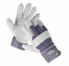 Cerva Kožené kombinované pracovní rukavice Gull, mechanické - univezální 10