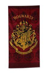 SETINO plážová bavlnená osuška - Harry Potter Hogwarts - červená - 70 x 140 cm