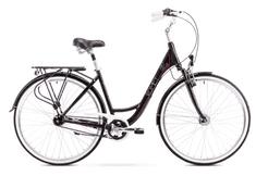 Romet Art Deco 7 gradski bicikl, M17, 2019, crno-roza