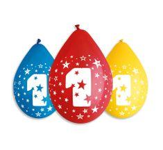 Gemar Latex Balloons Number 1 mix a színek-on a levegő-5db