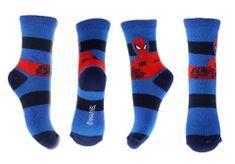 """SETINO Chlapčenské vysoké ponožky """"Spider-man - pásiky"""" - červeno / modrá"""