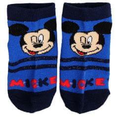 SETINO Chlapčenské členkové ponožky Mickey - modrá