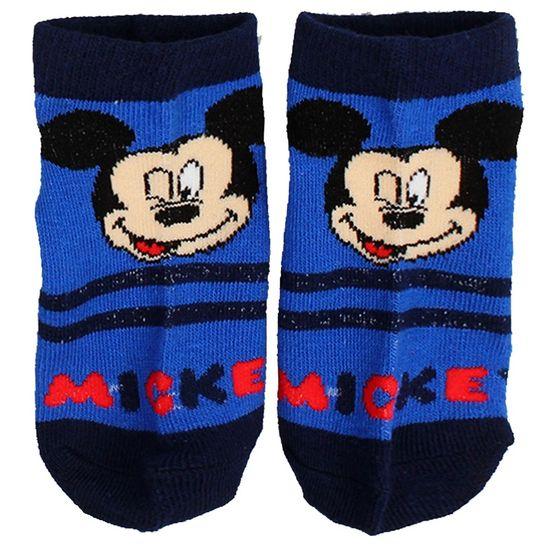 SETINO Chlapčenské členkové ponožky Mickey - modrá - 31–34