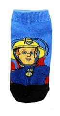 SETINO Chlapecké kotnikové ponožky Požárnik Sam - černá