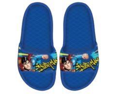 SETINO Chlapčenské gumené šľapky Superman - svetlo modrá