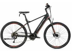 Leader Fox Exeter moško električno kolo, 19, mat črno/oranžno