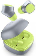 CellularLine True Wireless slúchadlá Evade s dobíjacím púzdrom BTEVADETWSL, limetková