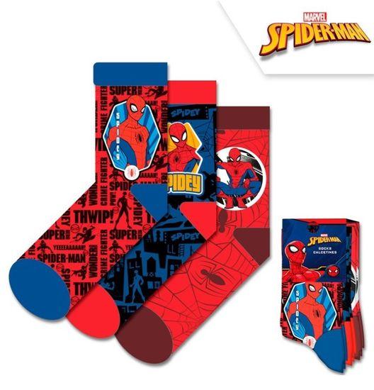 Chlapčenské vysoké ponožky Spiderman / Marvel - 3ks v balení - 35–37