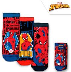Chlapčenské členkové ponožky Spiderman / Marvel - 3ks v balení