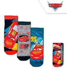 Chlapčenské členkové ponožky McQueen / Cars - 3ks v balení