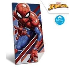 """EUROSWAN Ręcznik dziecięcy """"Spiderman"""" - niebieski 70 x 140 cm"""