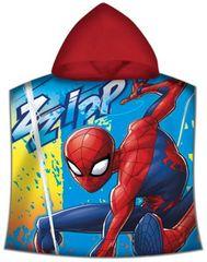 """EUROSWAN Dziecięcy ponczo ręcznik z kapturem """"Spiderman""""- czerwony"""