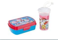 """EUROSWAN Zestaw plastikowe pudełko + butelka 0,4 L """"Psi Patrol"""" - różowy"""