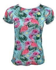 Lasoul Short Flamingo dámský dres krátký rukáv